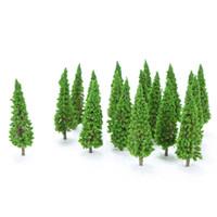 HO escala plástico Modelo de miniatura árvores para construção trens layout de trem paisagem acessórios de paisagem brinquedos para crianças lj200925