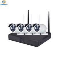 Wireless Camera 2.0MP Kit 4CH sistema di sicurezza domestica impermeabile del CCTV di visione notturna di wifi NVR Kit Videosorveglianza Set reale P2P AS-NVK-902KM