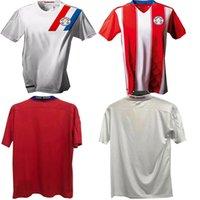 2020 2021 جمهورية باراجواي لكرة القدم الفانيلة الرجال المنتخب الوطني المنزل برونو فالديز غوستافو جيميه الأبيض قمصان كرة القدم الحمراء الزي الرسمي