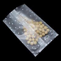 200 pcs lote aberto top matte clear rosa pontos estrela impresso doces biscoitos pacote de pacote plástico calor selagem lanche padaria pacote h jlíqr