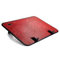Pannelli di raffreddamento per laptop Pannello metallico Dual Dual notebook Ventola Ventola Radiatore ad alta velocità Tappetino silenzioso Supporto per supporto Slim per accessori per computer da 14 pollici PC1