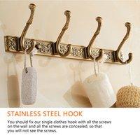 5 ganchos de linha de luxo parede de banheiro escultura de veste gancho cabide de porta ganchos para acessórios de banheiro y200108