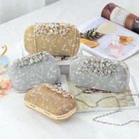 Party Full Clutch Evening Rhinestone Silver Sparkly Banquet Leaf Designer Bag Pochette Luxury Purse Gold Crystal Wedding Uwltd