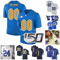 Pittsburgh personnalisé Panther Pitt 2019 Football Bleu marine Royal Gold Blancs Nom Numéro 8 Pickett Ffrench Hamlin Tipton Patti Weaver Jersey