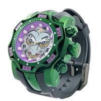 Marca de Luxo Invicta Mens Quartz Watch 52mm relógio impermeável com mostrador rotativo Calendário completo Relógio Masculino