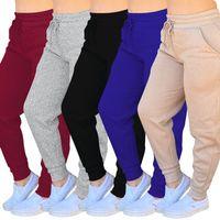 Le donne con coulisse pantaloni della tuta da jogging Yoga Leggings Sport Pantaloni Hip Hop Athletic Pantaloni Tinta unita Casual Esercizio matita della mutanda F110604