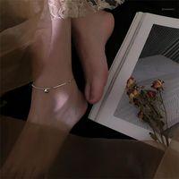 الخلخال الأزياء كرات الأميرة للنساء مجوهرات أعلى جودة 925 فضة خلخال فتاة سحر القدم الملحقات عيد ميلاد 1