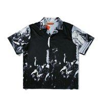 Icono Oscuro Impreso Camisa Hip-Hop Hombres 2020 Camisa de manga corta para hombres J1216