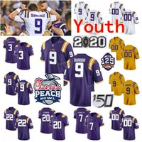 Custom LSU Tigers College Football Jerseys 61 Cameron Wire 7 Grant Delpit 7 Leonard Fournette 7 Patrick Peterson Youth Kids Stitched