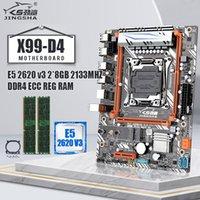 Jingsa X99 D4 Conjunto de placa base con E5 2620V3 y 2 * 8GB = 16GB DDR4 ECC Reg LGA 2011-V3 E5 V3 CPU 2 * DDR4 DIMM 4 * SATA 3 PCI-EX16