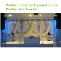 10ft x 20ft beyaz düğün arka plan ile parlak gümüş yağma düğün dekorasyon sahne dekorasyon ücretsiz kargo1