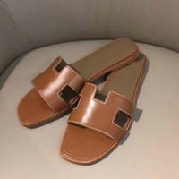 Nuova donna Slipper Designer Slipper Qualità Superiore Qualità Genuina Pelle Moda Casual Slipper Sandy Flip Flops Dimensione 34-43 con scatola