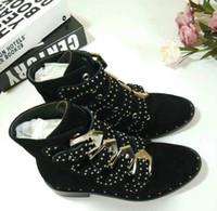 SpringFall Top-Alinhado Susanna Studded Leather Buckle Botas por Mulheres Round Salto Toe Kitten Shoes Mulheres zapatos mujer