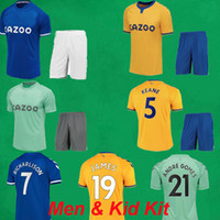 2020 2021 James Rodriguez Soccer Jersey 20 21 Richarlison Calvert Lewin كرة القدم قمصان السراويل الرجال أطفال أطقم كرة القدم مجموعات