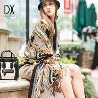 Dana Xu Women Winter Fashion Sciarpa Plaid spessore caldo Poncho Cashmere Maglione Pashmina Sciarpe e stole Oversized Coperte Wrap Y200103
