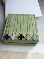 Четыре листья трава ожерелье женское 925 Стерлинговое серебро 18k цепь ключицы не исчезают простые японские и корейские ожерелье на день рождения подарок