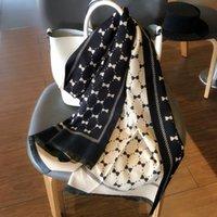 Bufandas de moda Mujeres Mantones y envolturas CashMere Arco impreso Gran tamaño Bandana Hijab Manta Poncho Scarf 190x65cm