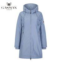 parka 201026 aşağı rüzgar geçirmez kadınlar kat katı pamuk Bayan Gasman Moda marka mavi sıcak sonbahar kadın ceketi Uzun kapüşonlu ceket