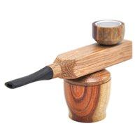 Mini Sandalwood Ручная труба Металлические Курительные трубы Труба для курения Портативная металлическая труба с табачным хранением Groove YYF4155