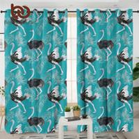 Rideau rideaux lit d'oiseaux d'oiseaux pour la cuisine autruches chambre aquarelle plumes de luxe empreintes