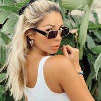 tiktok ins vents verres filet rouge coréen Version carrée lunettes de soleil cool lunettes de soleil femme marée tremblante
