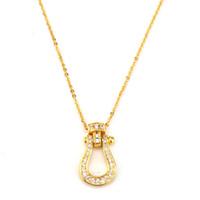 Hip Hop Schmuck Chokers Punk Halskette Zubehör Beliebte Horseshoe Schnalle Halskette voller Diamanten für Frauen-Mädchen
