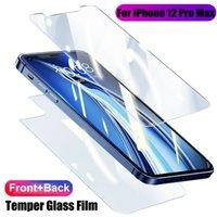 iPhone Cam Filmi Anti-Shatter Fulldody Ekran XS XR 11 12 Ön + Arka X Pro Max Mini Geri 12 Kapak Koruyucu Koruyucu Italx Için Temperli Italx