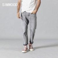 Erkek Kot Simwood 2021 Yaz Sonbahar Moda Erkekler Ayak Bileği Uzunlukta Denim Pantolon Yüksek Kaliteli Marka Giyim 1903451