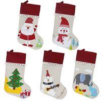 Рождественские украшения чулки мода снеговик медведи подарок сумка дерево санта-Клаус орнамент кулон 2020 детей 16 5xd f2
