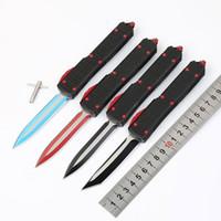 Offre spéciale Microtech Ultratech UTX85 UTX70 UTX70 Couteau D2 lame T6Aluminum (CNC) Poignée Halo V Knives extérieur outil EDC