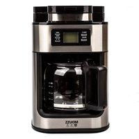 صانع القهوة الصانع الأوتوماتيكي المنزلية الطازجة الطازجة التنقيط نوع النمط الأمريكي آلة تخمير آلة الحليب 1