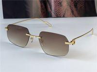 Best Selling Occhiali da sole all'ingrosso 0113 Ultralight irregolare Frameless Retro Avanguardia Design UV400 Lenti Light Coloration Lenti Decorative Eyewear