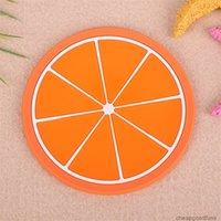 U Fabrik Candy Mat Frucht Silikon Farbe Tasse Kreative Nonlip Isolierkissen Untersetzer Tischzubehör Küchen Gadge 3u