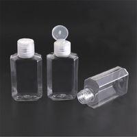 60ml Kunststoff Leere Hand Sanitizer Gel-Flasche Handseife flüssige Alkohol Flasche Klar Reisen Flasche Zwängt