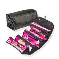 Roll-n-go saco cosmético armazenamento de uso de viagens multifunções facilitam o bom gerenciador de cosméticos de maquiagem