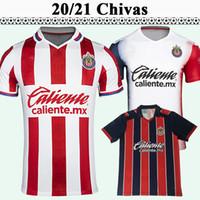 2020 2021 Clube do México Chivas de Guadalajara Futebol Jerseys A. Pulido Lopez Home Away Branco Camisa de Futebol de Manga Curta Mexicana Uniformes