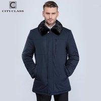 Männer Jacken Großhandel - Stadt Klasse 2021 Herren Dicke Warme Winterjacke Mode Camel Haare Nerzkragen über Mantel 159121