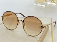 Yeni Moda Tasarım Kadın Güneş Gözlüğü 0919 Yuvarlak Metal Çerçeve Elmas Tapınaklar Popüler ve Cömert Stil UV400 Gözlük En Kaliteli