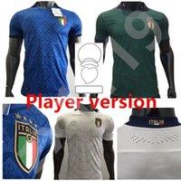 2020 Italia Soccer Jersey Casa Away 3rd Leder Version Insigne Belotti Jorginho Verratti Pellegrini 20 21 Camicia da calcio