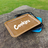Alta Qualidade cookies plástico Rolando Bandejas Tobacco Placa 18x12cm Mão rolo Tin cigarro Bandeja Caso Spice acessórios coloridos fumadores