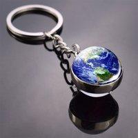 Vintage World Globe Terre Pendentif Terre Chaîne clé Amérique Europe Australie Carte Keychain Keyfob Cadeaux de Noël
