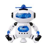 جديد الإلكترونية المشي الرقص روبوت اللعب مع الموسيقى تفتيح للأطفال دروبشيبينغ LJ201105
