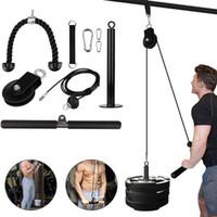 Home DIY Fitness Riemenscheibe Kabelseil Befestigungssystem Werkzeug Kit Lädt Pin Hubarm Biceps Trizeps Handfestigkeitstraining Ausrüstung