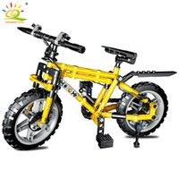 Huiqibao 235 adet Bisiklet Bisiklet Araba Modeli Yapı Taşları Teknik Araç Bisiklet Tuğla Eğitici Oyuncaklar Çocuklar Için Boy Hediye