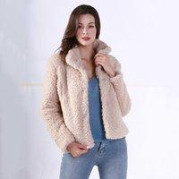 Kadın Kürk Faux Atoshare Ceket 2021 Kış Teddy Ceket Kadınlar Casual Moda Kuzu Palto