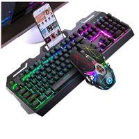 Keyboard Souris Combos jeu Gaming ergonomique 104 Touches Optique Set avec 3200DPI RVB Wired Combo