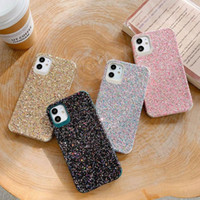 TPU Gel Material Protective Skin Phone Shell Glitter Shockproof Phone Case Bling Bling Pattern Phone Cover for iPhone 11 12 MAX PRO Mini
