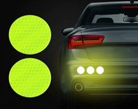 5cm Round Car Tail Reflective Stickers Warning Tape Safety Reflective Anti-collision Reflector Sticker For Cars Trucks Bus