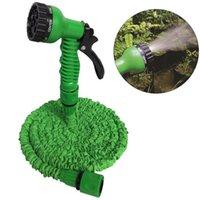 Einziehbarer Schnellverbinder Wasserschlauch mit Multifunktions-Wasserpistole Haus Gartenbewässerung Waschen Latex 25ft erweiterbarer Schlauchsatz DH0755 T03