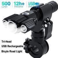 متعددة الوظائف الصمام الخفيفة لMTB الطريق دراجة مصباح ركوب الدراجات الدراجة الخفيفة سبائك الألومنيوم USB ماء الدراجة مصباح الجبهة الضوء العلوي XA7